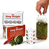The Easy Weight – Fermentation Weights (Value Pack of Four Fermenting Weights) – Fits Every Wide Mouth Mason Jar – Large and Heavy Crack Proof Glass – Made From Food Safe Glass