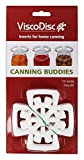 ViscoDisc Canning Buddies- Wide Mouth Mason Jar Canning Inserts, 12pk- Helps Keep Your Pickled Fruits and Veggies Submerged Under the Brine While Fermenting. No More Spoilage!