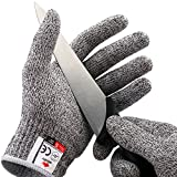 NoCry Cut Resistant Gloves - Ambidextrous, Food Grade, High Performance Level 5 Protection. Size Small, Free Ebook Included!