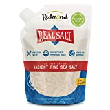 REDMOND Real Sea Salt - Natural Unrefined Gluten Free Fine, 26 Ounce Pouch (1 Pack)