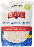 Redmond Real Salt Fine Salt Natural Unrefined Organic Gluten Free Fine- 26 ounce pouch (1 Pack)
