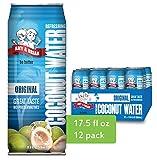 Amy & Brian Non-GMO Coconut Water, Original, 17.5 Fl Oz (Pack of 12)