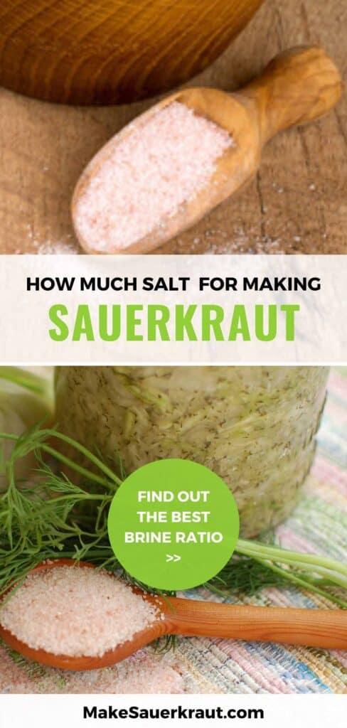 how much salt for making sauerkraut