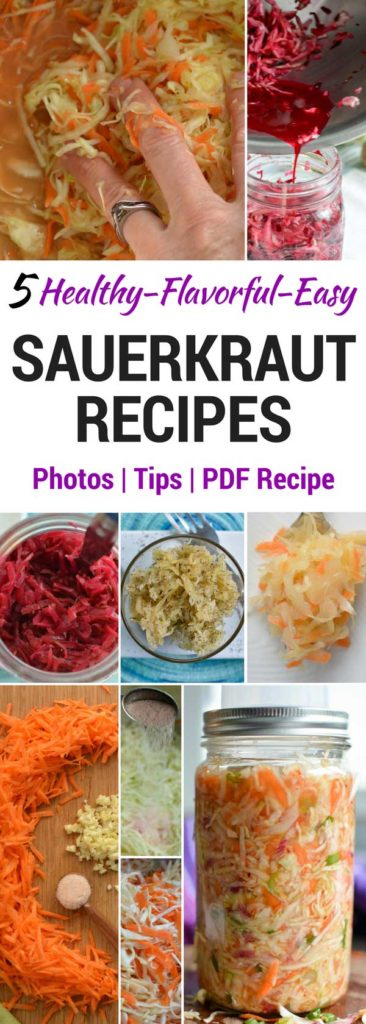 A set of five sauerkraut recipes to please all the palates in your family. | makesauerkraut.com