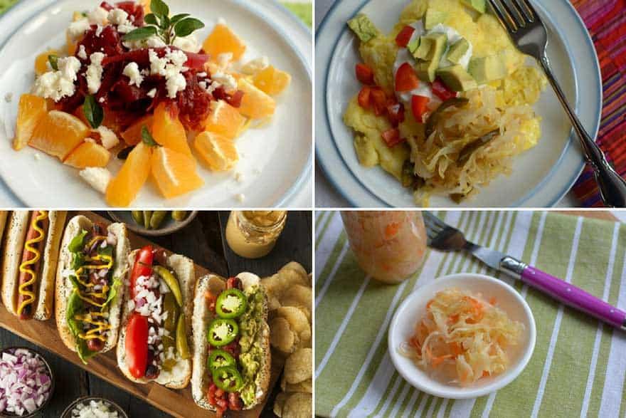 Ways to eat sauerkraut.   makesauerkraut.com