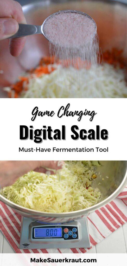 Weigh your fermentation salt. | MakeSauerkraut.com
