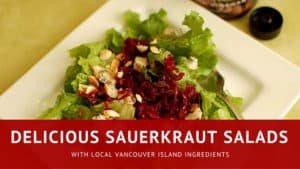 Sauerkraut salads with local ingredients. | makesauerkraut.com