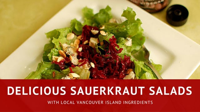 Sauerkraut salads with local ingredients. | makesauerkraut.com