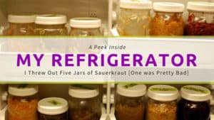 Bad sauerkraut in my refrigerator. | makesauerkraut.com