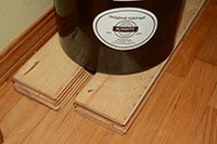 Place your crock on blocks to protect your floor. | makesauerkraut.com