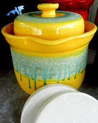 Mark Campbell water sealed fermentation crock. | makesauerkraut.com
