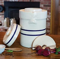 Ohio Stoneware water-sealed crock. | makesauerkraut.com