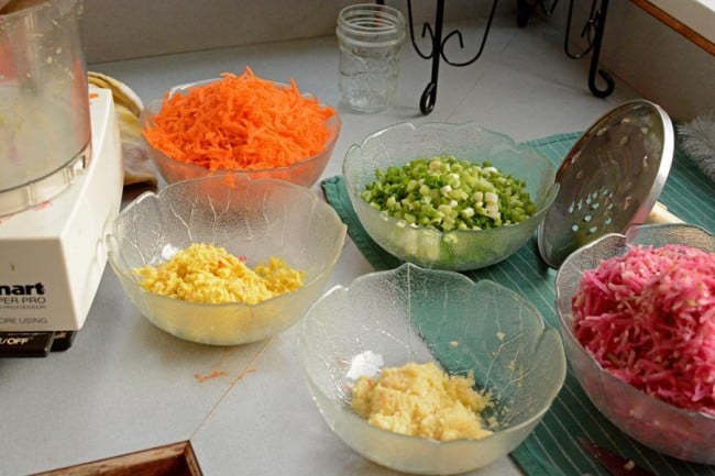 Kimchi ingredients ready for my crock. | makesauerkraut.com