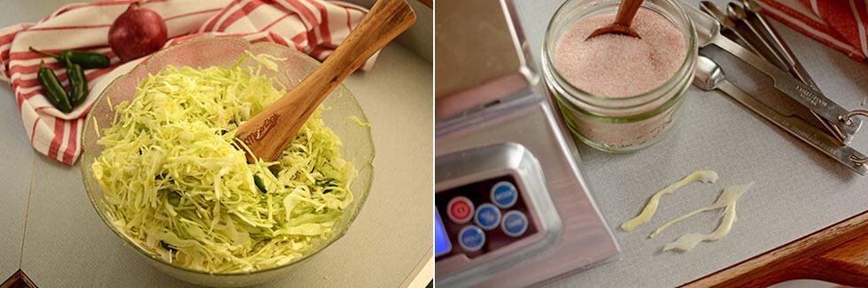 Surefire sauerkraut in a crock. | makesauerkraut.com