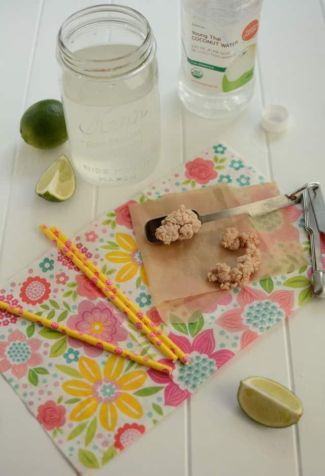 Making fermented coconut water with milk kefir grains. | makesauerkraut.com
