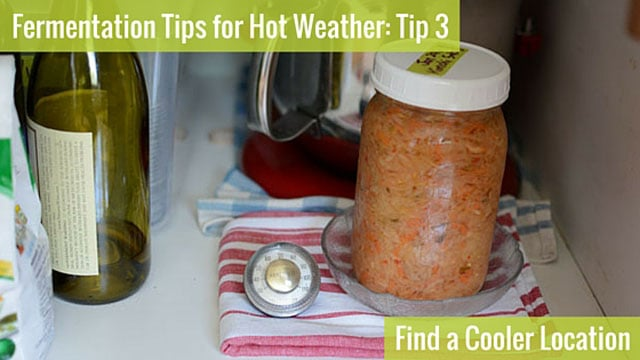 Fermentation Tip 3: Find a Cooler Loaction. | makesauerkraut.com