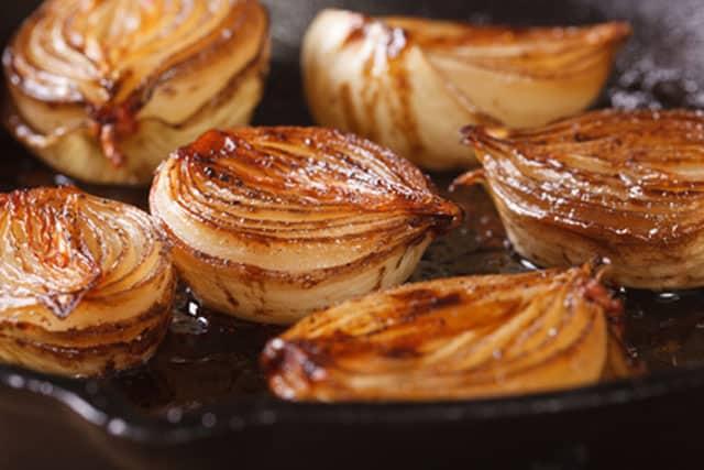 Close-up of caramelized onions.   MakeSauerkraut.com