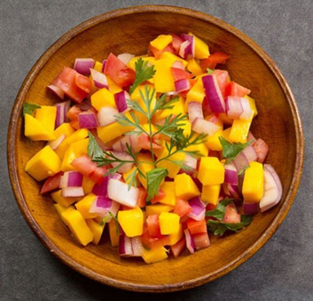 Add jicama to your mango salsa for prebiotics. | makesauerkraut.com