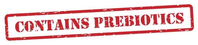 """Contains Prebiotics"" in bold red lettering.   MakeSauerkraut.com"
