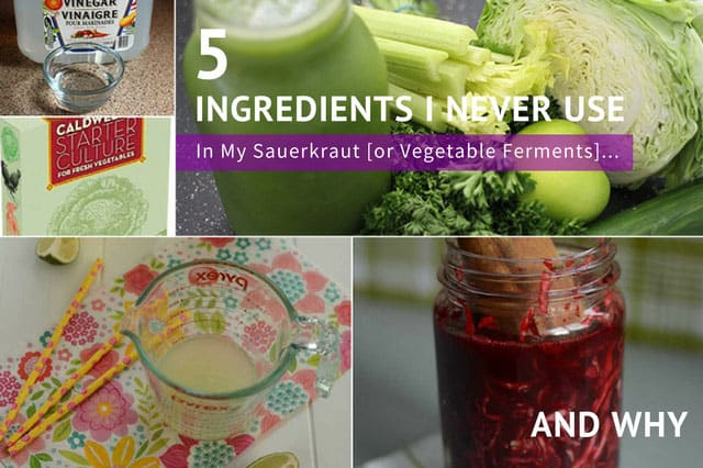 5 Ingredients I never use in my ferments and why. | makesauerkraut.com