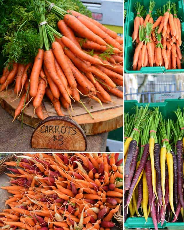 Shopping for fresh carrots for fermented carrot sticks. | makesauerkraut.com