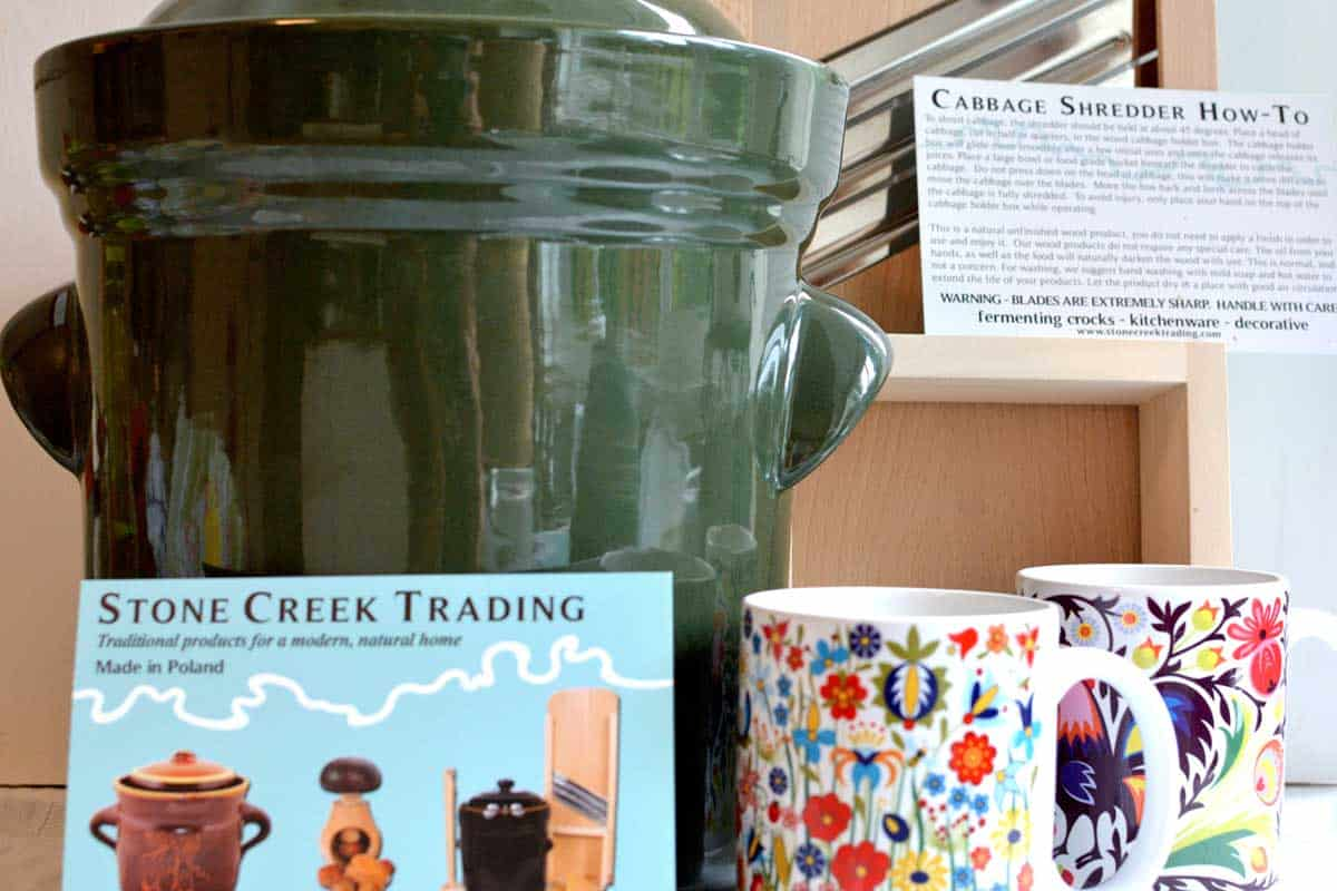 Fermenting crock from Stone Creek Trading. | makesauerkraut.com