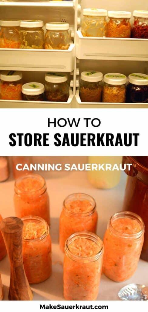 How to Store Sauerkraut (Canning Sauerkraut)