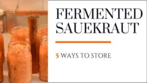 Storing sauerkraut 5 ways. | makesauerkraut.com