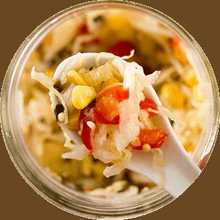 Enjoying some homemade sauerkraut.   MakeSauerkraut.com