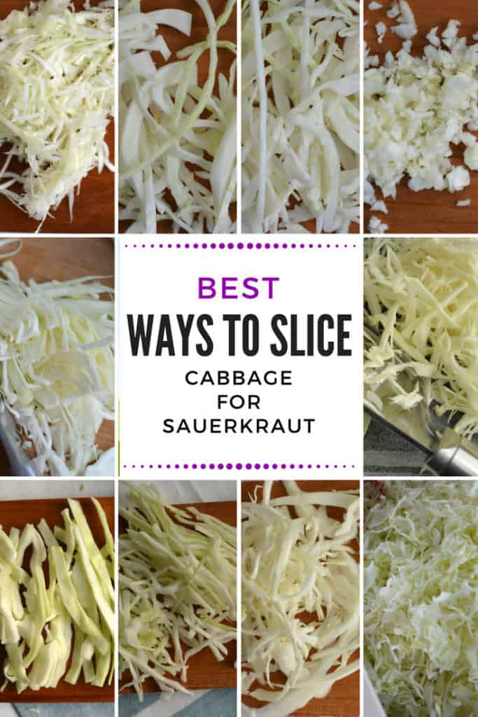 Ways to slice cabbage for sauerkraut. | makesauerkraut.com