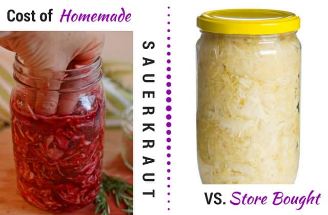 Cost of homemade vs. store bought sauerkraut. | makesauerkraut.com