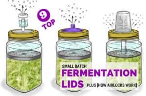 Fermentation lids with arilocks. | makesauerkraut.com