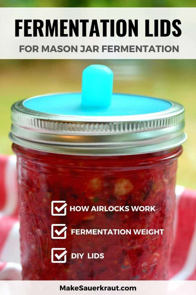 Fermentation Lids for Mason Jar fermentation, Mason jar with pickle pipe silicone disc