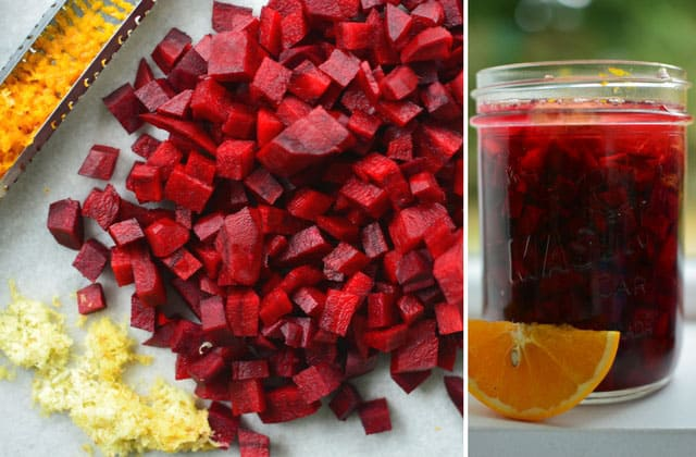 Fermented beets seasoned with orange and ginger. | makesauerkraut.com