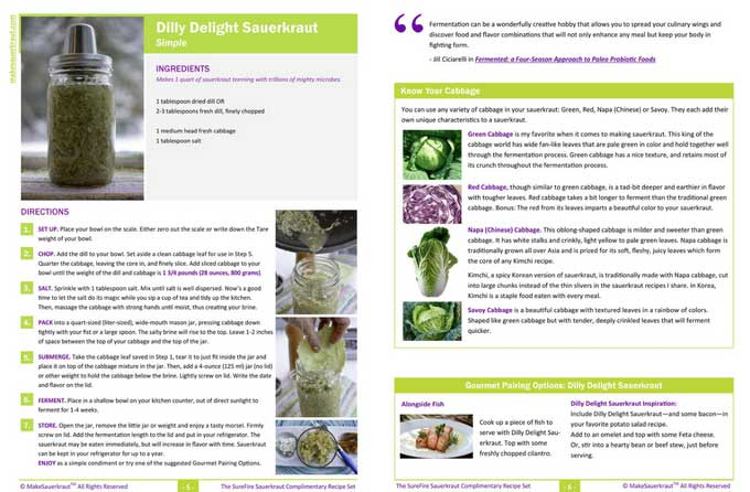 A beautiful PDF recipe for Dilly Delight Sauerkraut. | makesauerkraut.com