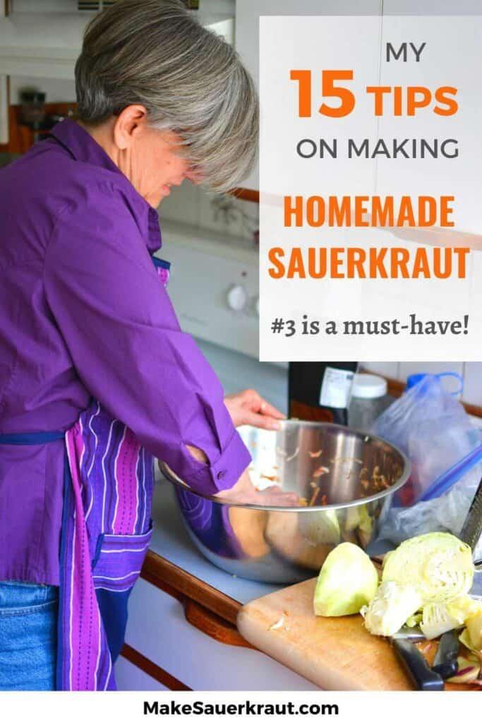 15 Expert Fermentation Tips for successfully fermenting homemade sauerkraut