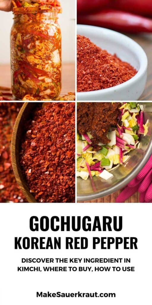 Korean red pepper powder, kimchi, and a bowl of cabbage with kimchi paste. | MakeSauerkraut.com