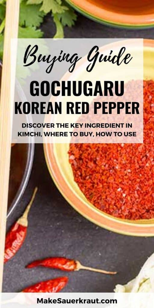 Bowl of Korean red pepper flakes and peppers used to make kimchi. | MakeSauerkraut.com