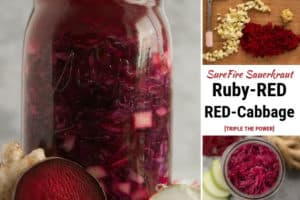 Ruby-Red Red-Cabbage Sauerkraut. | makesauerkraut.com