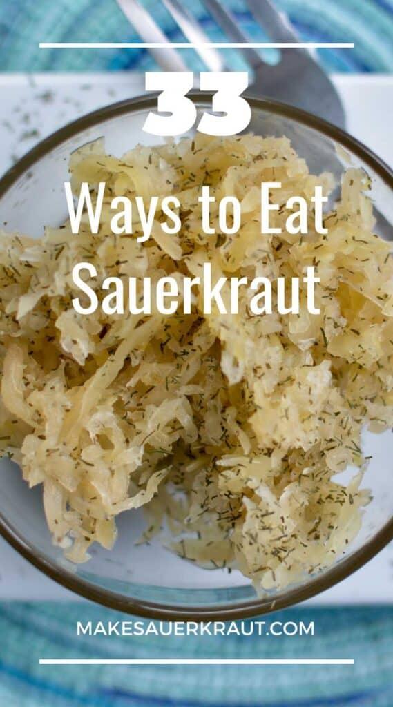 Cup of sauerkraut seasoned with dill. | MakeSauerkraut.com