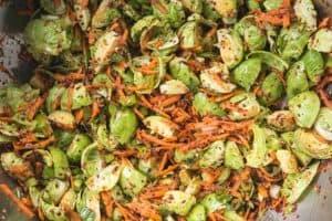 Brussels Sprout Kimchi recipe from WECK Small-Batch Preserrving. | makesauerkraut.com