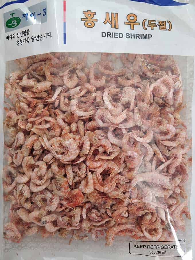 Dried shrimp can be used instead of salted shrimp. | makesauerkraut.com