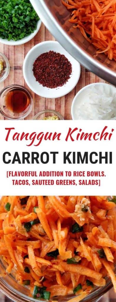Carrot Kimchi [Tanggun] ready for fermentation. | MakeSauerkraut.com