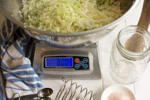 Salt by weight. | MakeSauerkraut.com