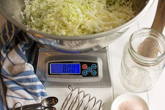 Salt by weight. | MakeSauerkraut.com
