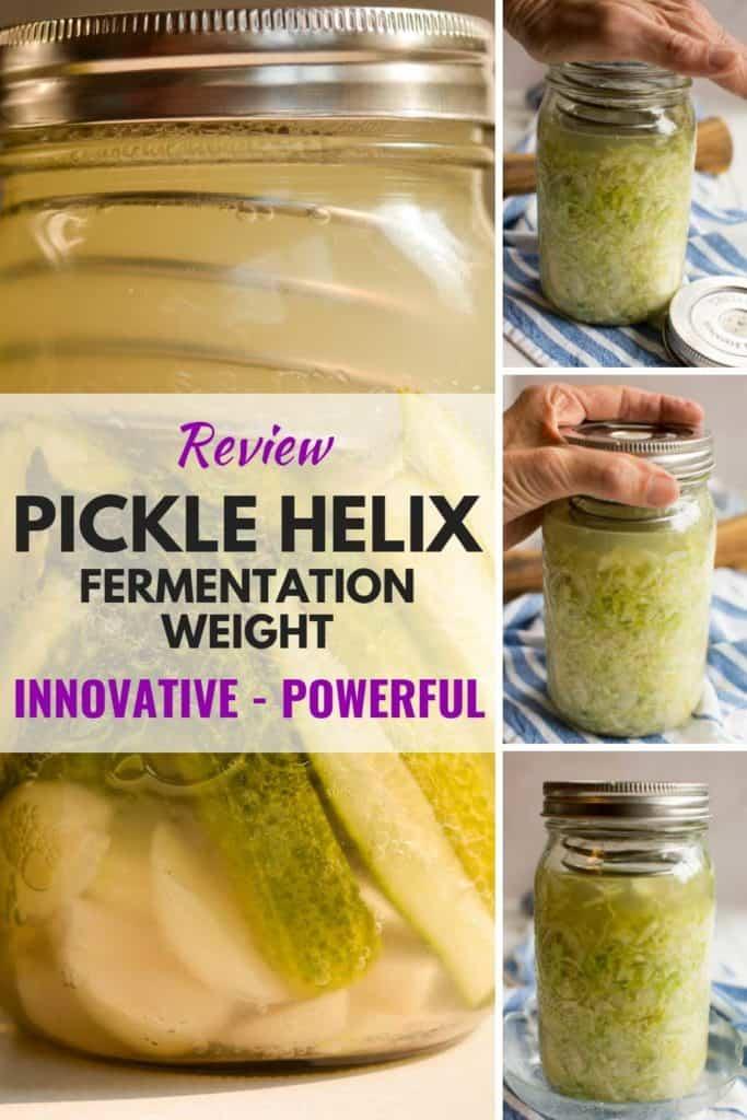 A review of the PickleHelix fermentation weight. | MakeSauerkraut.com