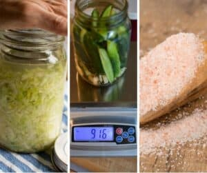 Weight, scale and salt for fermentation tools
