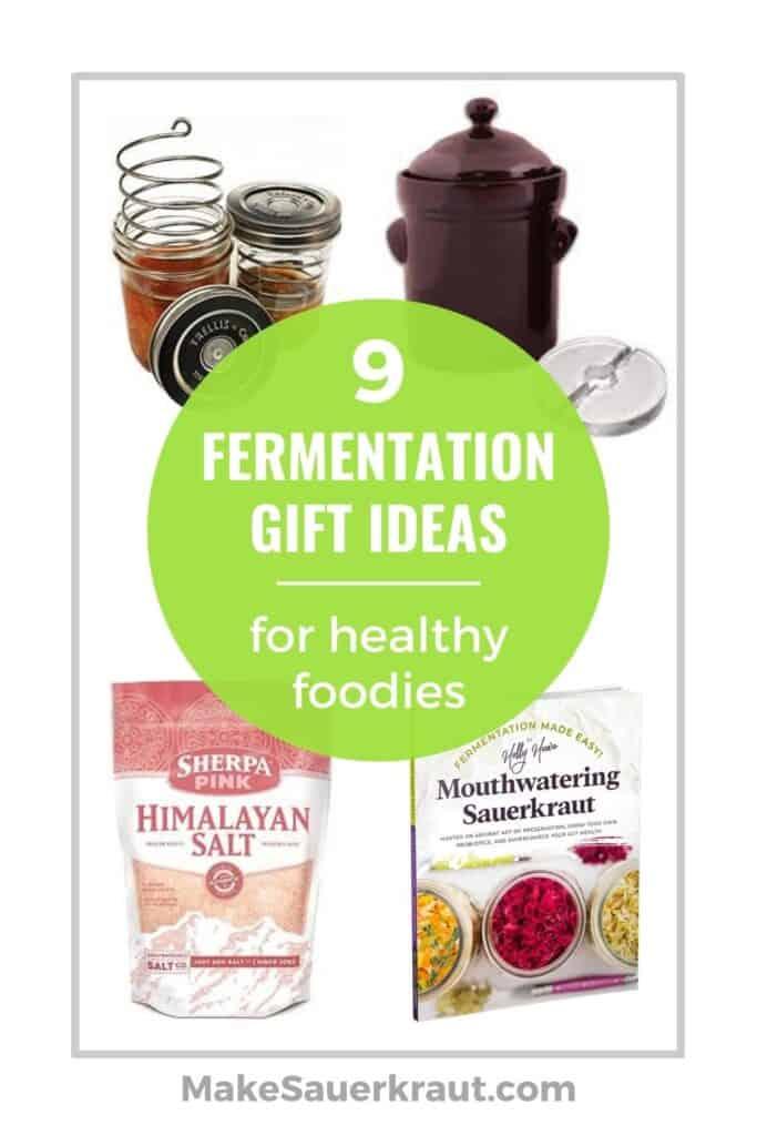 Fermentation Gift Guide: Fermentation weight, crock, Himalayan salt, Mouthwatering Sauerkraut book