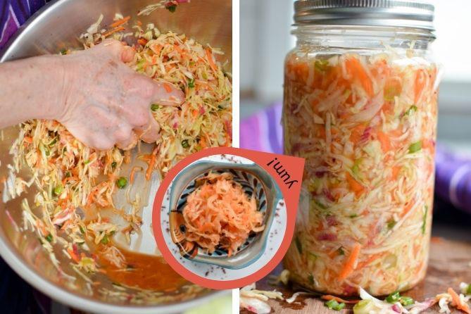 Sauerkraut transformation from cabbage to kimchi. | MakeSauerkraut.com